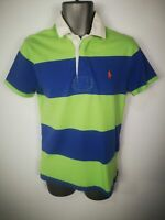 MENS POLO RALPH LAUREN BLUE 100% COTTON SHORT SLEEVED POLO SHIRT TOP SMALL S