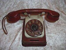 UralteSpardose Blechspielzeug Kinder Telefon mit Wählscheibe und Klingel um 1920