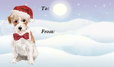 Jack Russell Terrier Dog Christmas Labels By Starprint - No 2 Design