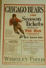 1928 Chicago Bears Poster - Nfl - Wrigley Field - Red Grange - George Halas