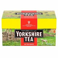 Yorkshire Tea Bags  5 Boxes Of 40 (200 Tea Bags Supplied )     Free UK Delivery