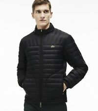 Lacoste NWT Men's BH9642 Quilted Lightweight Solid Black Jacket 54/XL
