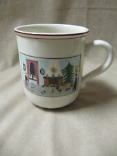 VILLEROY & BOCH CHRISTMAS NAIF MUG WITH HEARTH AND TREE  IN EXCELLENT CONDITION