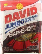 David Jumbo Bar-B-Q 5.25oz Sunflower Seeds Barbeque Roasted and Salted