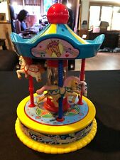 Vintage 1991 RedBox Musical Wind Up Horse Carousel Plays: It's A Small World