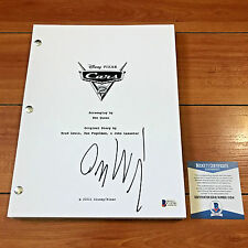 OWEN WILSON SIGNED CARS 2 FULL 135 PAGE MOVIE SCRIPT w/ PROOF BECKET BAS COA