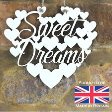 Sweet Dreams White Love wall hanging heart decoration Birthday gift sign art