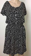 Womens Size 10 Polka Dot Black White Tunic Dress Cruise Holiday