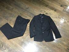 Calvin Klein Black On Black Boys 2 Piece Suit 12 Regular