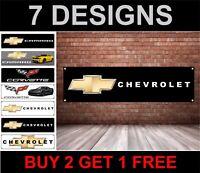 Chevrolet Motori Logo - PVC Banner - Officina, Garages & Camera da Letto