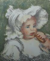 Auguste RENOIR (d'après) : Enfant au biscuit - LITHOGRAPHIE signée #MOURLOT