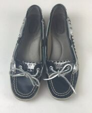 Sperry Top-sider Houndstooth Boat Shoes Women's Size 8M
