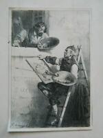 gravure Hippolyte Bellangé Causerie d'Artistes Litho. Periaux à Rouen 1841