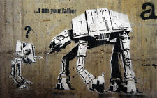 Banksy I Am Your Father 8X12 canvas print street graffiti poster reproduction