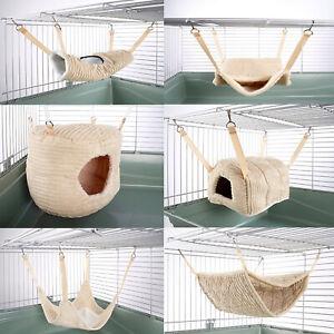 Hammock for Ferret Chinchilla Rat Guinea Pig Bed Toy Pet House Luxury Cream