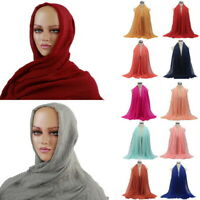 A4 Ladies  Viscose Maxi Crinkle Cloud Hijab Scarf Shawl Soft Islam Muslim