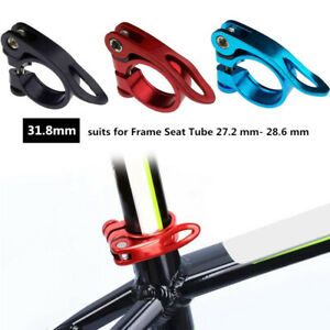 Mountain Bike Seatpost Clamp Bicycle Bike Seat Tube Clamp Quick Release 31.8mm