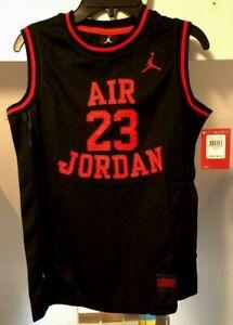 JORDAN KIDS AIR JORDAN MICHAEL JORDAN #23 MESH ALL SEWN BASKETBALL JERSEY NWT