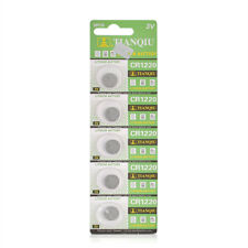 Wholesales 5x 3V Li-ion Cell Battery CR1220 1220 3 Volt Coin Button Cell Battery