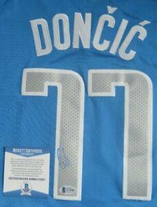 Luka Doncic Autographed Signed Swingman Jersey Beckett COA Dallas Mavericks NBA