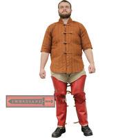 Templar Knight Tassets Medieval Faux Leather Leg Armor Guard Waist Greaves LARP