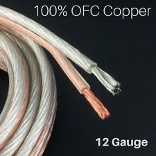12 GA Gauge Parallel Speaker Wire 200 foot PVC jacket 100% OFC Copper strands