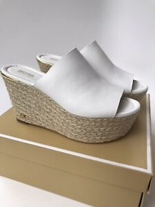 Michael Kors Cunningham White Leather Wedge (Size 7.5)