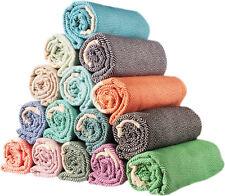 Set of 6 XL Diamond Turkish Peshtemal Cotton Bath Face Spa Gym Beach Towel Set