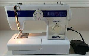 White Brand Sewing Machine Model 1866 Heavy Duty w/ Foot Pedal