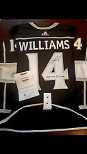 LA Kings Justin Williams jersey Autographed with inscription and Frameworth COA
