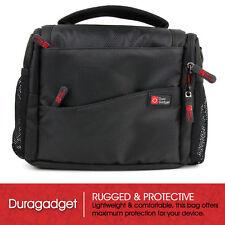 Shoulder Bag in Black & Orange for LUPO S-PIR-0322 Mini Sports DVR Video Camera