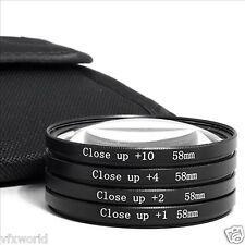 58mm Closeup lens kit For Canon EOS 1100D 1000D 550D 600D for 18-55mm lens