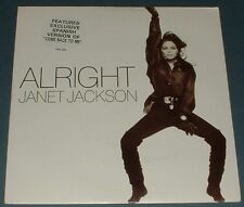 JANET JACKSON alright*come back to me (spanish version) 1990 UK A&M PS 45