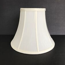 Cream Bell Shaped Lampshade 12 x 6 x 9 1/2 Tall with Spider Fitter
