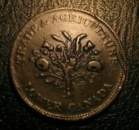 OLD Canadian Coins 1838  Bouquet Sous Canada Montreal Token