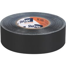 Shurtape PC609-48/55BLK Industrial Grade Cloth Black Duct Tape: 2 in. x 60 yds.