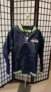 Seattle Seahawks  Jacket XXL/XXG/TTG Satin Starter Navy New
