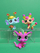 #2663-2662-2661 Set Garden Fairies Purple Dragon LPS Littlest Pet Shop Figure