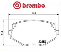 P49020 Kit pastiglie freno, Freno a disco (MARCA-BREMBO)
