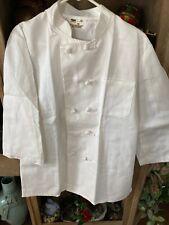 White Chef Coat Jacket Restaurant Hotel Cook.T401