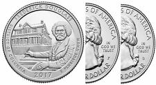 2017 P&D Frederick Douglass National Site (DC) 2 Quarter Set **IN HAND**