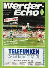 BL 87/88 SV Werder Bremen - Bayer 04 Leverkusen