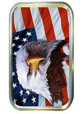 AMERICAN EAGLE 1oz GOLD TOBACCO TIN,PILLTIN,BACCY TIN,POCKET TIN