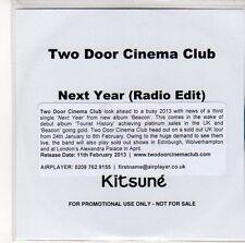(ED645) Two Door Cinema Club, Next Year - 2013 DJ CD
