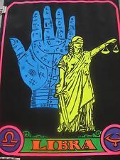 "1969 Libra Zodiac 17"" X 21 ¾"" Original PRO ARTS Black Light Poster"