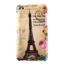 Eiffel Tower Bird Rose Floral Hard Case Cover for iPod Touch 4 4th generation G4