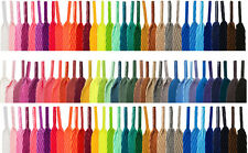 FLAT COLOURED SHOE LACES SHOELACES BOOTLACES - 30 COLOURS - 2 WIDTHS - 5 LENGTHS