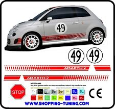 STICKERS KIT BAS DE CAISSE FIAT 500 ABARTH 49 LOGO