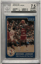 1984-85 Star Rookie of the Year #288 Michael Jordan ROOKIE RC BGS 7.5