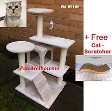 New Cat Tree Scratching Post Gr8 4 Kittens Cat Toy + Free Cat Scratcher 89100